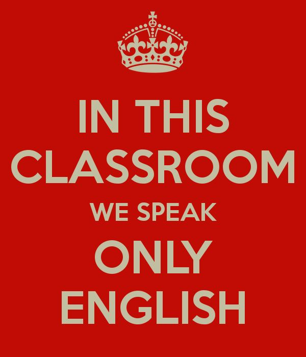 only english