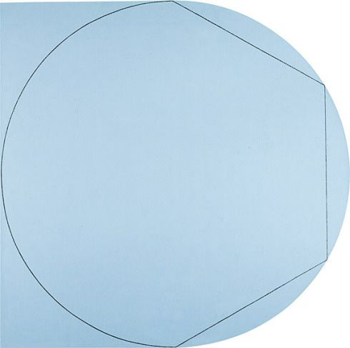 mhsteger:    Circle In and Out of a Polygon 2, a 1973 painting by Robert Mangold (born 12 October, 1937); in the collection of the Solomon R. Guggenheim Museum, New York,