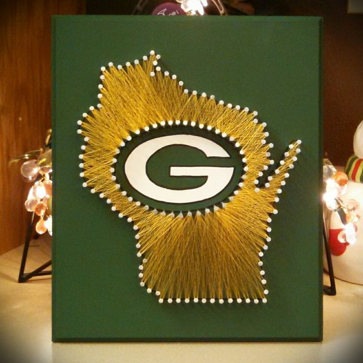 Green Bay Packers String Art, State String Art, Cheeseheads, Green Bay, Wisconsin String Art