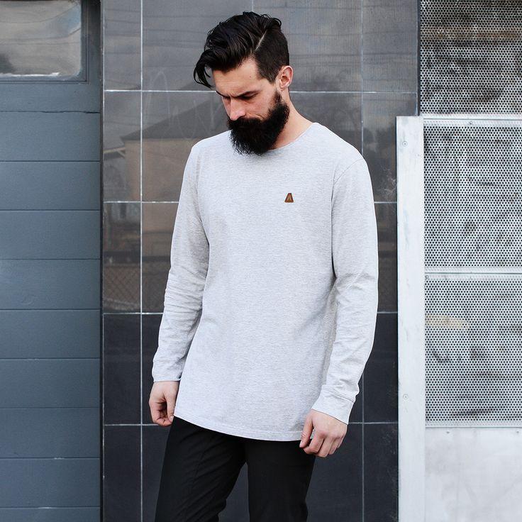 Autonomy clothing Mens basic Tees Long sleeve tees Made in Melbourne Australian designer