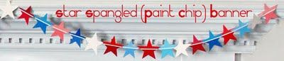 Fourth of July Star Spangled (Paint Chip) Banner - DIY Craft Project Instructions