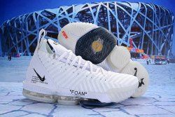 5c0e73072dd Off White Nike LeBron 16 EP Foam White Black AO2588 082 Men s Basketball  Shoes James Trainers