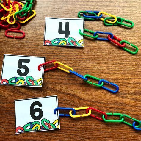 Zahlen darstellen mit Links für Kindergärtner zum Üben von Zahlen