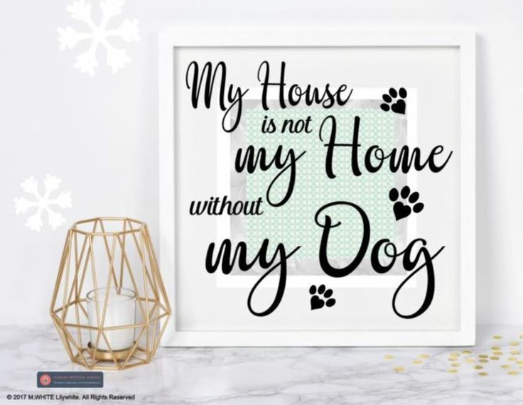 My House is not my Home without my Dog - Sticker for BOX FRAME - IKEA/HOBBYCRAFT #IKEA #Novelty