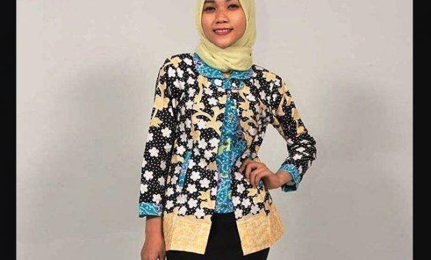 51 Gambar Baju Batik Modern Lengan Panjang Untuk Remaja Paling Keren