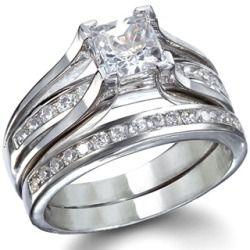 ridal jewelry needs to match your personality perfectly. You need to find that perfect set for yourself because this is something you will want to wear everyday, forever and ever. If you are woman who is looking for something classic and traditional, our Bethany's sterling silver wedding ring set could be your jewelry soul mate.