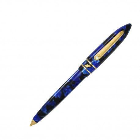 "MODELLO T  ""LAPISLAZZULI"" Oversize ball pen, twist action  www.penemporium.com  #pen #fountainpen #ballpoint #madeinitaly #stipula"