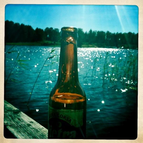 Beer from Korsika (Corse?) and a summerday at Ljusterö.