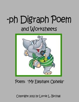 ph/ digraph poem with grammar skill worksheets.