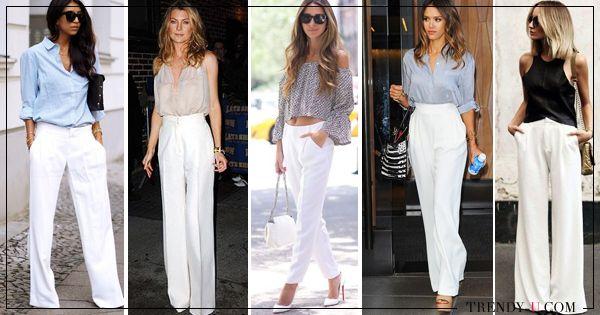 #white_trousers #white_pants #белые_брюки С чем носить белые брюки? Кому идут белые брюки? Как подобрать фасон в зависимости от типа фигуры? Где купить женские белые брюки, в конце концов? В преддверии лета ответы на эти более чем насущные вопросы - в очередном фэшн-обзоре Trendy-U.