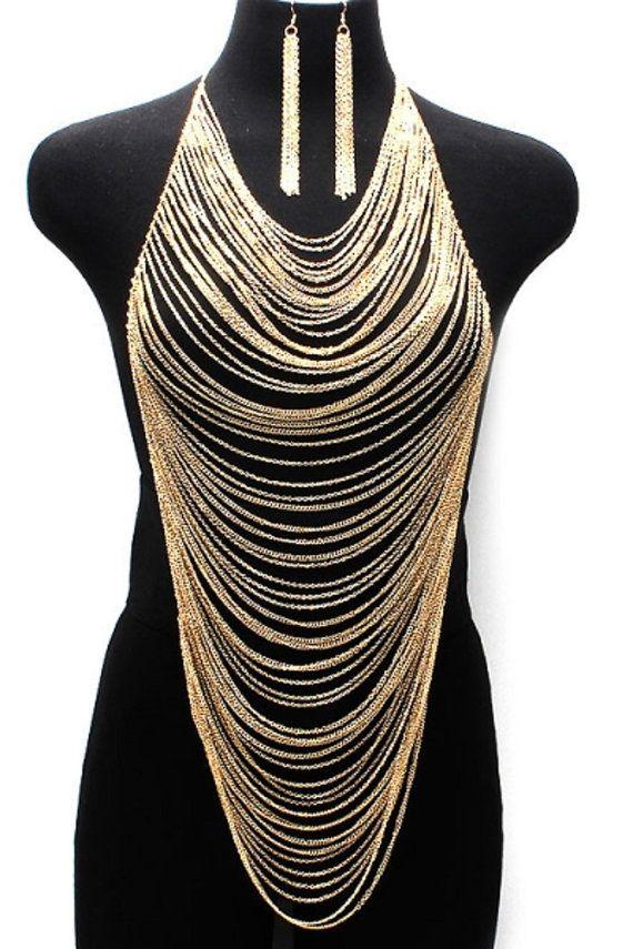 collier lariat collier plastron ras du cou collier par Paulafashion, $30.00