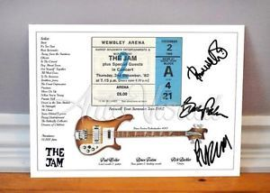 PAUL WELLER THE JAM BEAT SURRENDER CONCERT TICKET 1982 SIGNED PHOTO PRINT POSTER