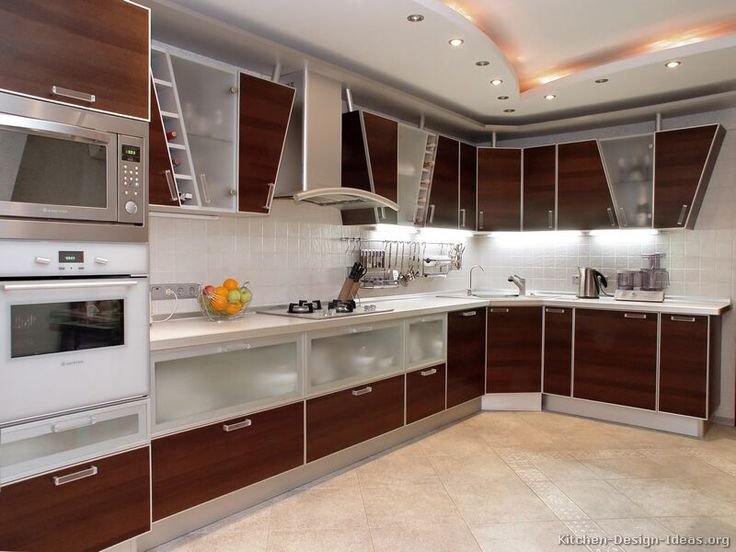 #Kitchen Idea Of The Day: Modern Wood Kitchen With Unique Angled Upper  Cabinets. Part 85