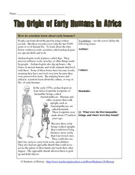 early humans history vocab For example, the vocabulary words learned in an early man lesson plan are, unlike early man, still around and thriving using recent discoveries and current resource materials can demonstrate how there are entire bodies of research and career paths fueled by delving into history and even prehistory.