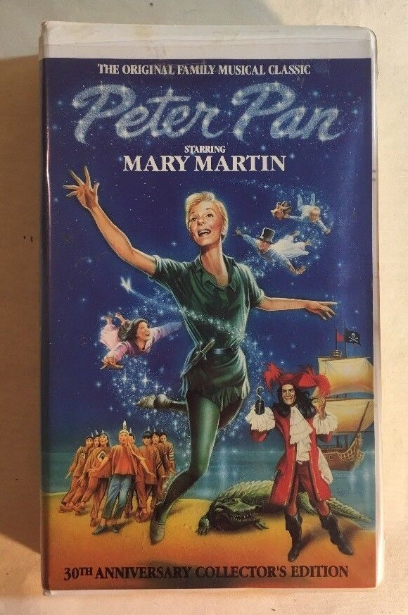 Peter Pan 30th Anniversary Collector's Edition VHS Mary Martin Clamshell Case