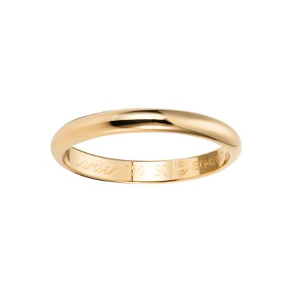 Cartier 18K yellow gold wedding band. Width: 2.5 mm (men?)