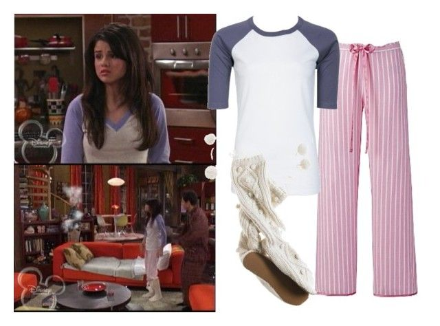 """Selena Gomez as Alex Russo"" by jc10 ❤ liked on Polyvore featuring Disney, Cyberjammies, Charlotte Russe, Aerie, wowp, selena gomez, wizards of waverly place, justin's little sister and alex russo"