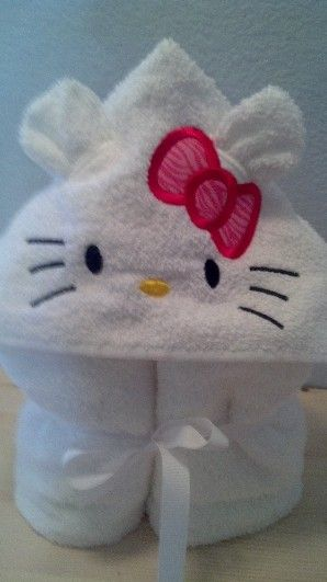 HOODED TOWELS Kitty - No Tutorial
