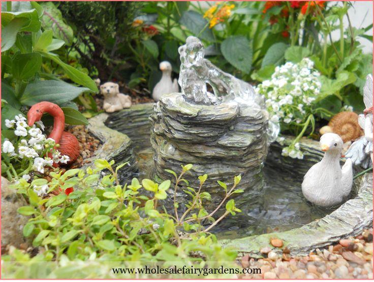 134 Best Fairy Garden Bird Bath Fountain Ponds Images