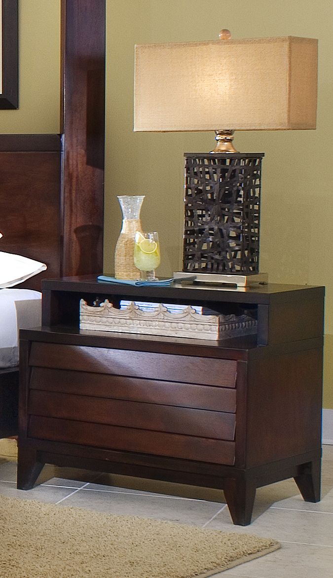 2 Drawers Removable Top Shelf Night Table | Ligna Furniture | Home Gallery Stores