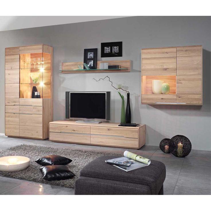 Les 25 meilleures idées de la catégorie Wohnwand massiv sur - wohnzimmer eiche massiv modern