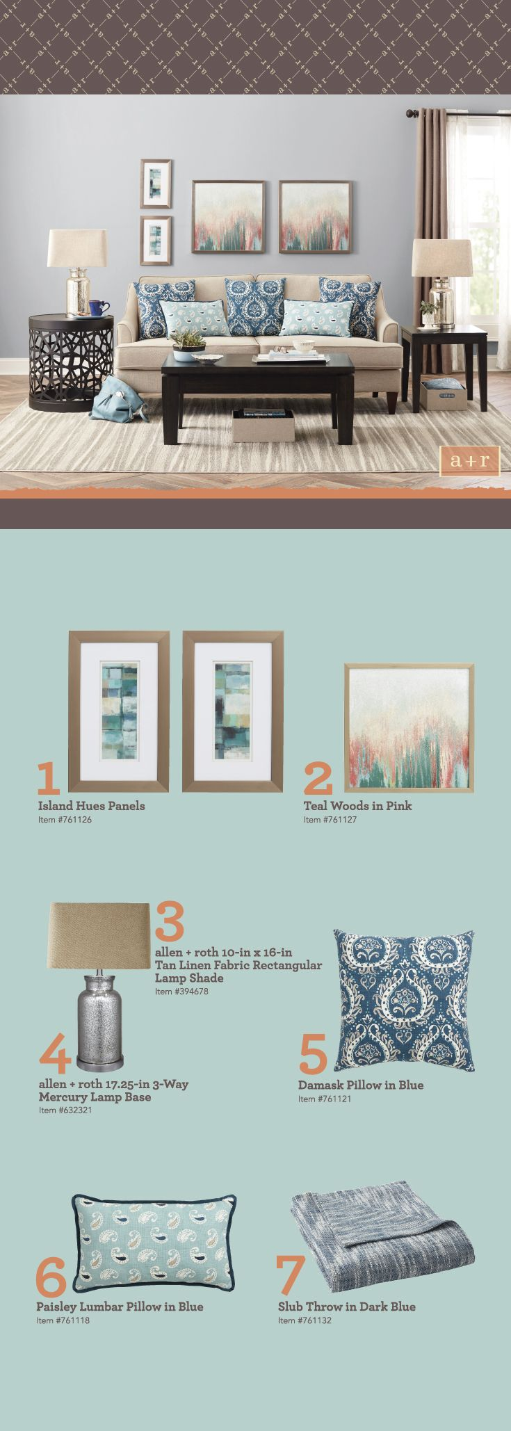Home Decor Styles Use Accessories To Inject Color Into Your Room This Collection From Allen Roth Mixes