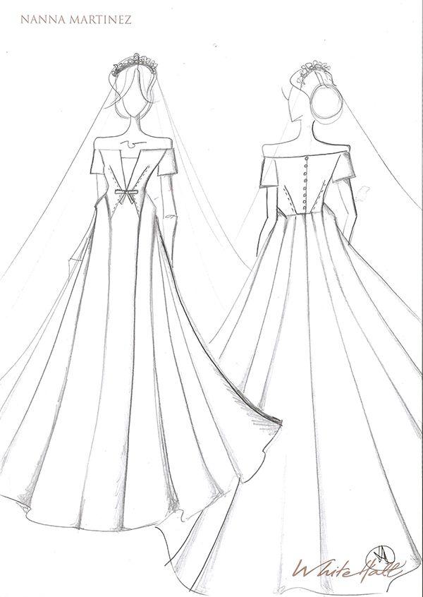Estilistas Desenham Vestidos De Noiva Para Meghan Markle Constance Zahn Design De Moda Sketchbook Desenhos De Estilistas Desenhos De Vestido De Noiva