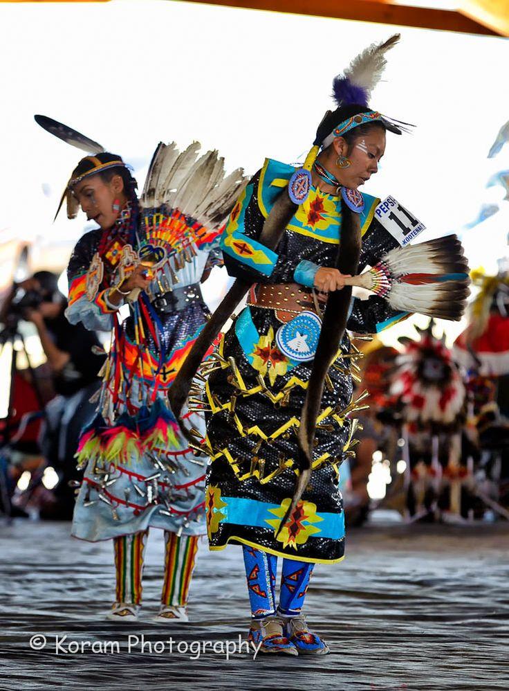 Powwow, photo by Haksaeng. Women's Jingle Dance Team.