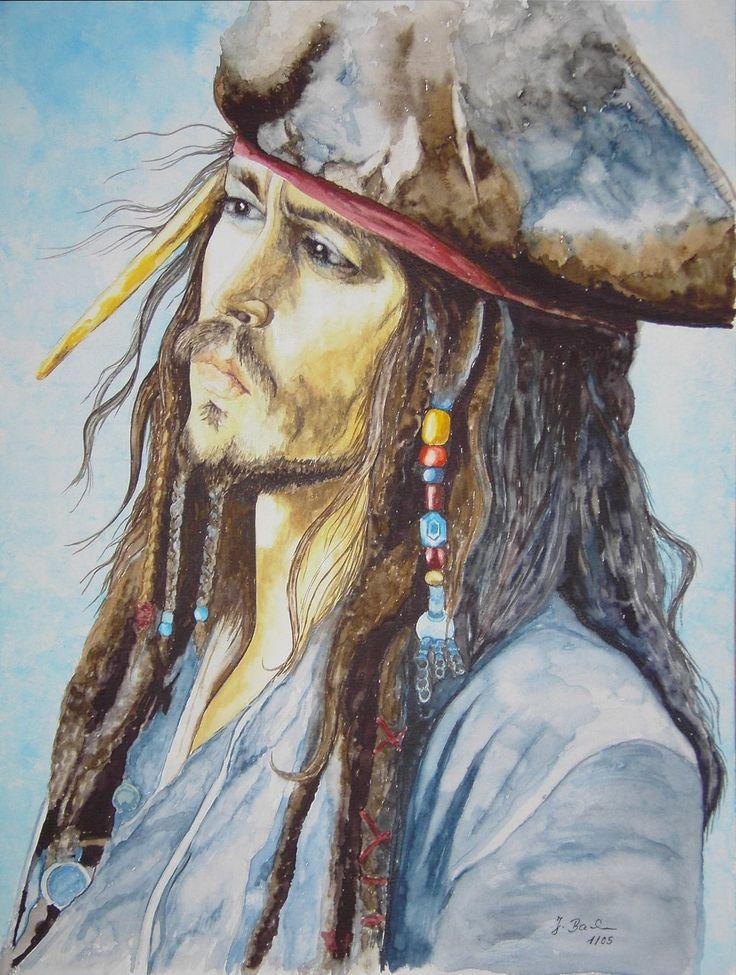 Captain Jack Sparrow 1 gespielt von Johnny Depp in dem Film Fluch der Karibik 1 - Jutta Bachmann