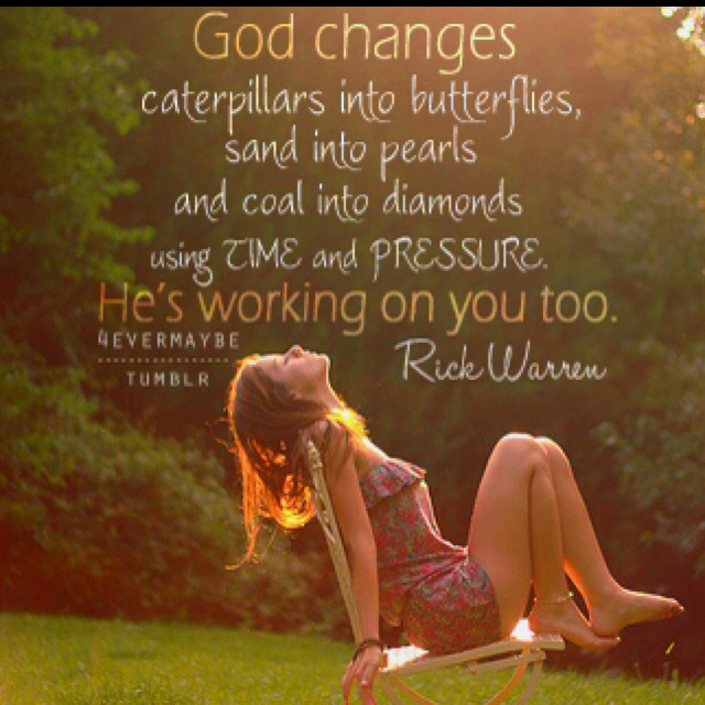 Absolutely love this.: God Will, The Lord, Work, Remember This, God Changing, Butterflies, God Is, Rickwarren, Rick Warren Quotes