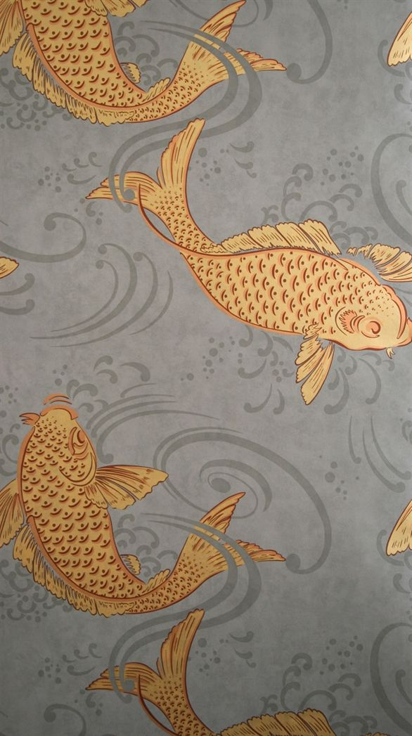 Osborne little w5796 01 i am obsessed with this for Koi fish wallpaper
