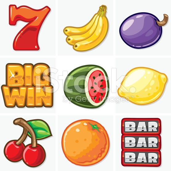 Slot Machine Icons - Soft Collection royalty-free stock vector art