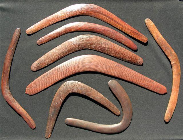 Aboriginal Returning Hunting Boomerang