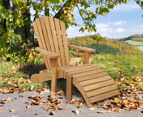 Bear Teak Adirondack Chair. Sit back and relax in this stunning teak Adirondack chair. An excellent addition to any outdoor space, our premium teak #Adirondack chair has been beautifully hand crafted to the highest spec to provide you with abiding joy. #teak #sunlounger #furniture #garden #patio