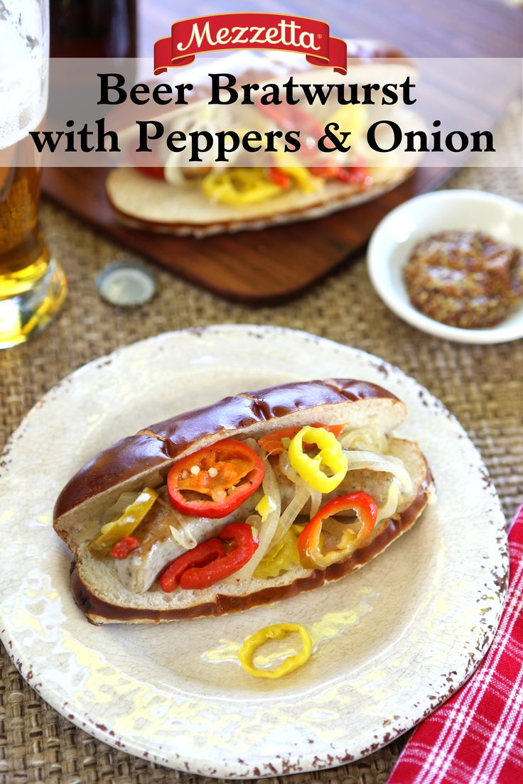 Get the comforting flavors of the stadium with this Mezzetta Beer Bratwurst with Peppers & Onions. Learn how to whip up this dish for the next big game!