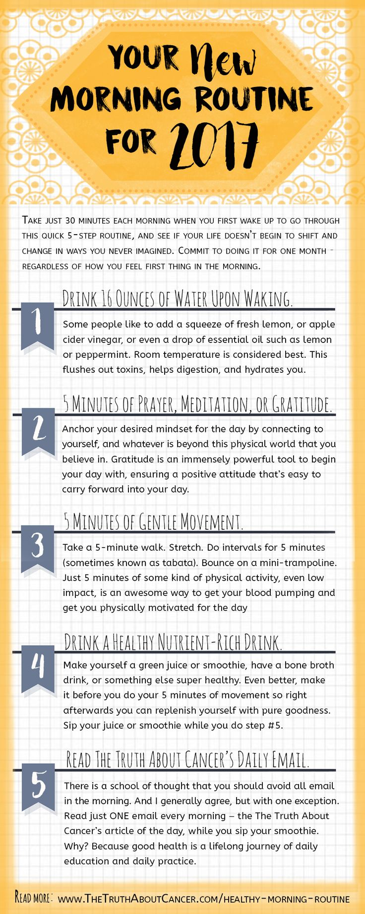 Transforming your health your new morning routine for 2017
