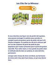 Avis Les Clés De La Minceur pdf gratuit Telechargement