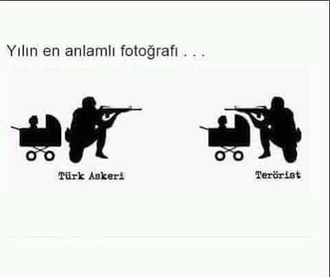 Türk askeri ve terörist