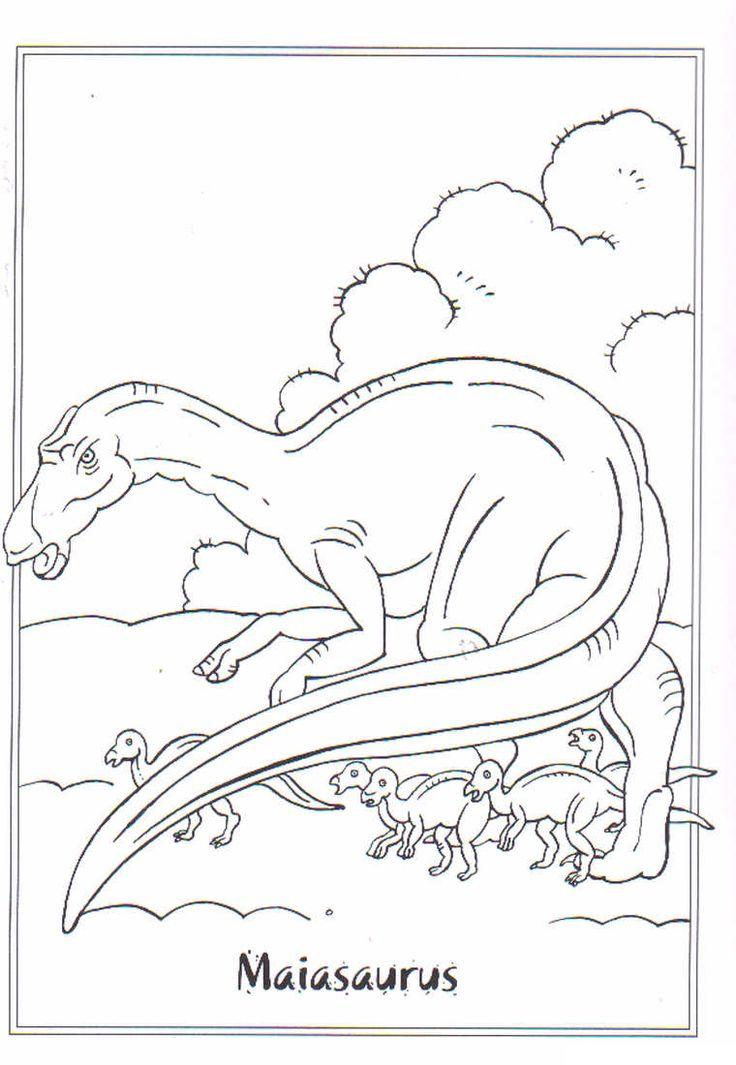 Kids-n-fun | Ausmalbild Dinosaurier 2 Maiasaurus