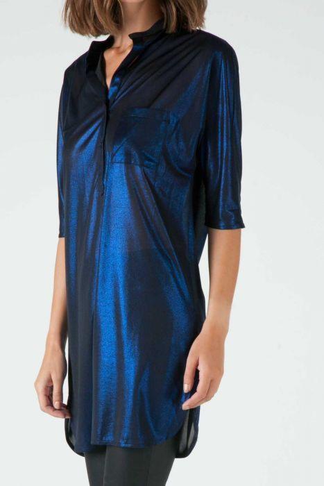 Banded collar long blouse #despinavandicolletion