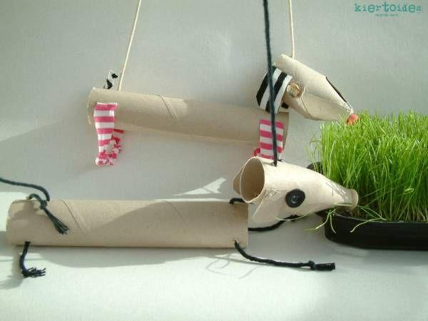 Marionnette de chien en tube de papier toilette « La cabane à idées