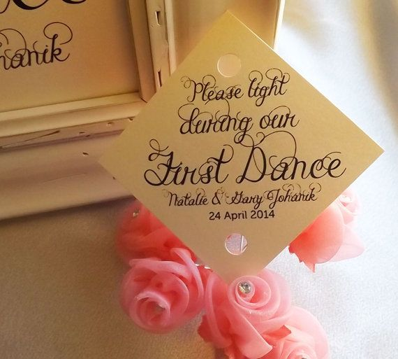 Sparkler Tag First Dance Wedding Tags 150