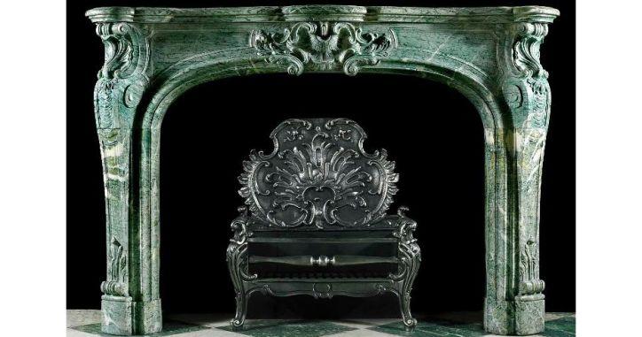 Камин из зеленого мрамора. Мраморный каминный портал. Marble Fireplace. Green Marble. http://www.jet-stone.ru/izdelija/zakazat-kaminy-iz-mramora-mramornye-kaminy-na-zakaz