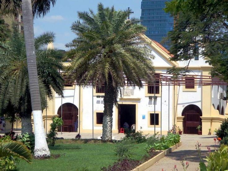 The Igreja de Nossa Senhora da Nazaré (1664) faces the Marginal promenade in Luanda, Angola.
