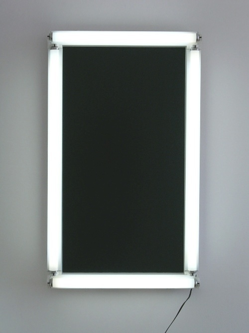efedra:  Post Black No. 10, 1992 by Bill Culbert and Ralph Hotere (Fluorescent Tubes on Wood Panel)