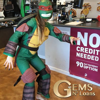 How 'bout some Raph? Our favorite costume down here at the #pawnshop! #collectibles #teenagemutantninjaturtles #tmnt #raphael #actionfigures #cash4gold #silverandgold #gemsnloans