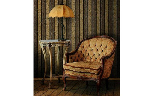 Em cortiça, o bonito papel de parede 'Carbon Gold' da Naru custa R$ 3.542 (rolo). Foto:  Divulgação