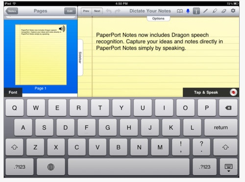 Paper Port App – Dragon Dictation App on Steroids! for iPad only