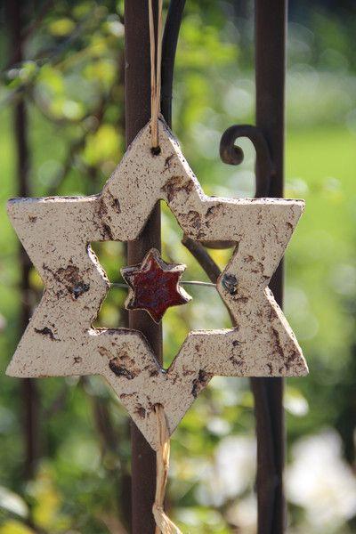 *Weihnachtsstern~Windspiel+von+Töpfereien+im+Landgarten+auf+DaWanda.com