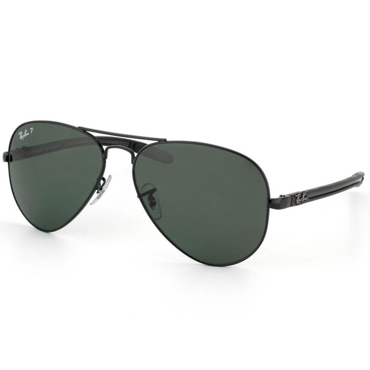ray ban rb 8307 002 n5 58 unisex aviator tech carbon fiber black metal